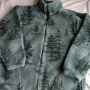 Fleece Evergreen Zipper Jacket